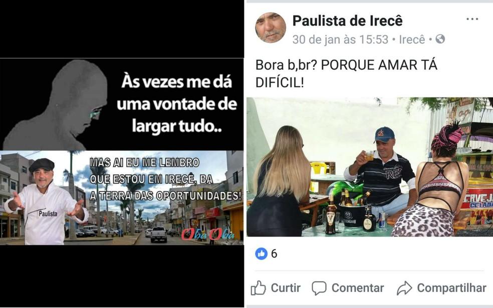 Empresário usava memes para divulgar casa de prostituição (Foto: Divulgação/Polícia Civil/Arte G1)