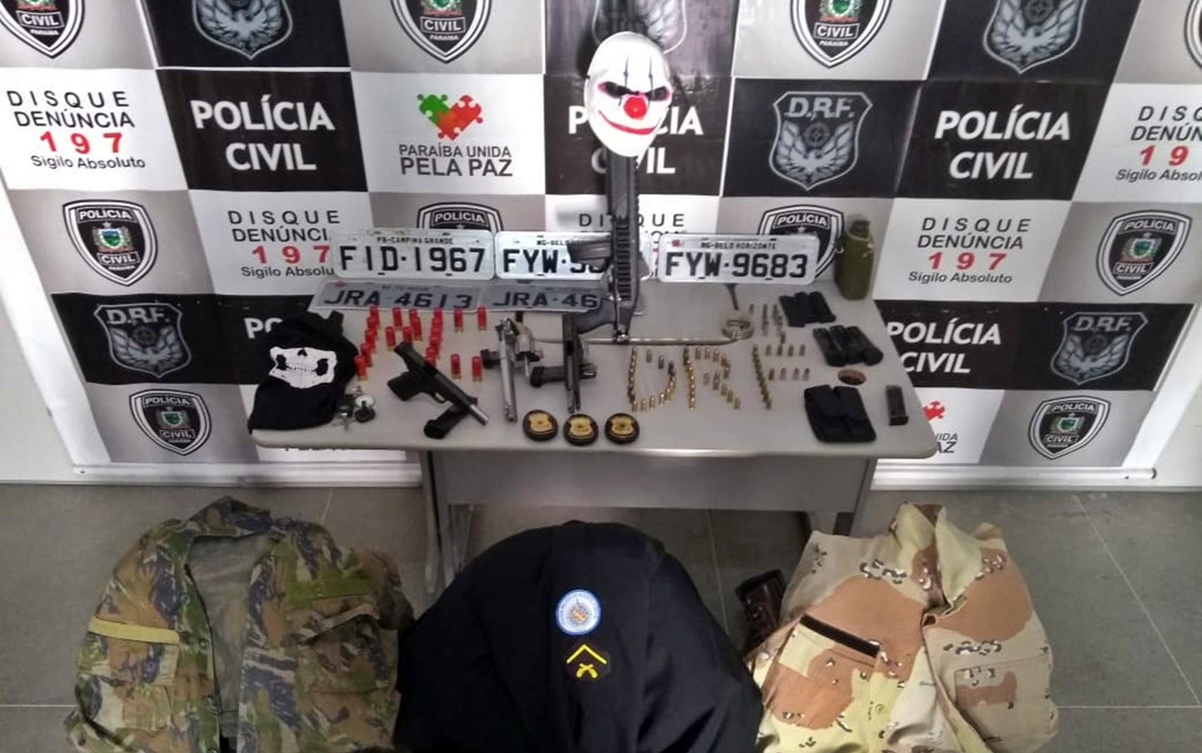 Policiais da Bahia são presos na PB suspeitos de sequestros de empresários e roubos