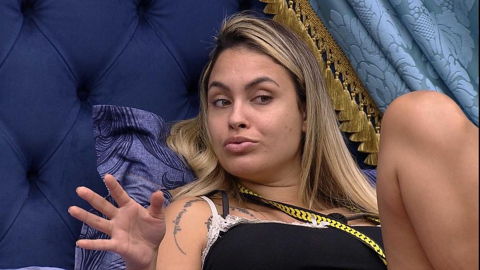 Sarah conta opções de voto para Paredão do BBB21, e Juliette opina: 'Jogo racional'  — Foto: Globo