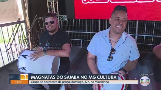 Os Magnatas do Samba animam o MG1