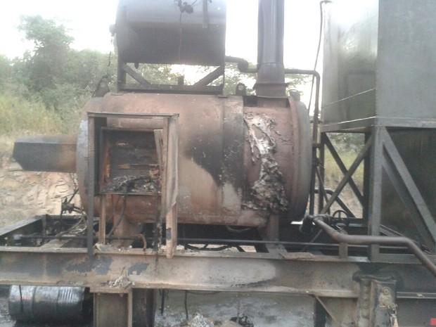 Caldeira explodiu e causou o incêndio  (Foto: Fábio Crepaldi/ Arquivo Pessoal )