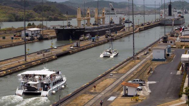 Estados Unidos concluíram canal do Panamá em dez anos (Foto: VW PICS/BBC)