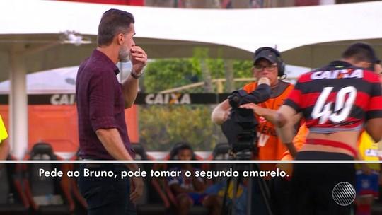 """Especialista decifra recado de Mancini: """"Pede ao Bruno, pode tomar o cartão amarelo"""""""