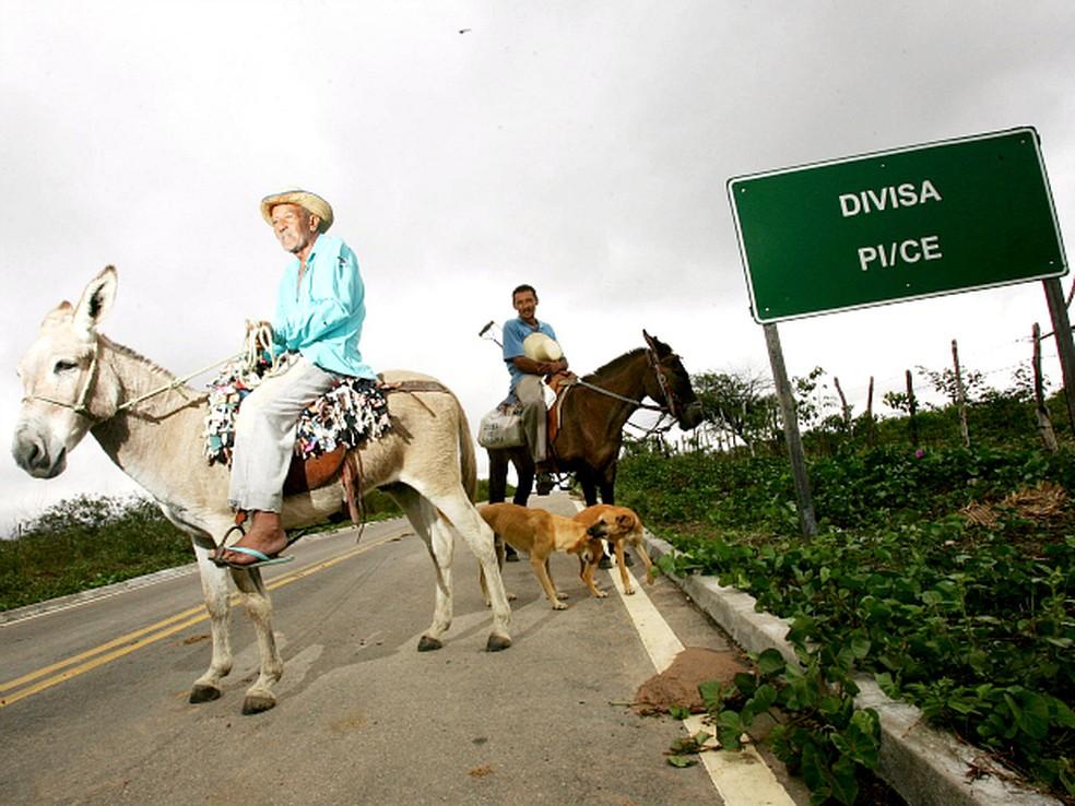 Divisa entre Piauí e Ceará tem áreas de litígio entre os estados — Foto: Agência Diário