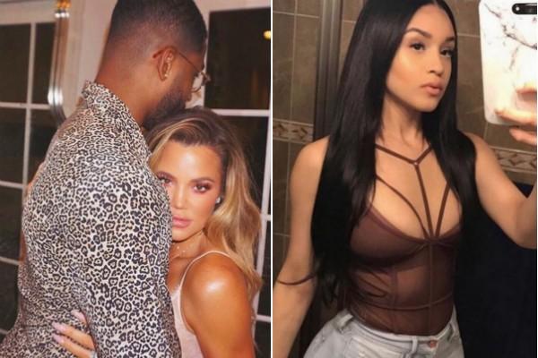 A socialite Khloé Kardashian com a namorado e a suposta amanate dele (Foto: Instagram)