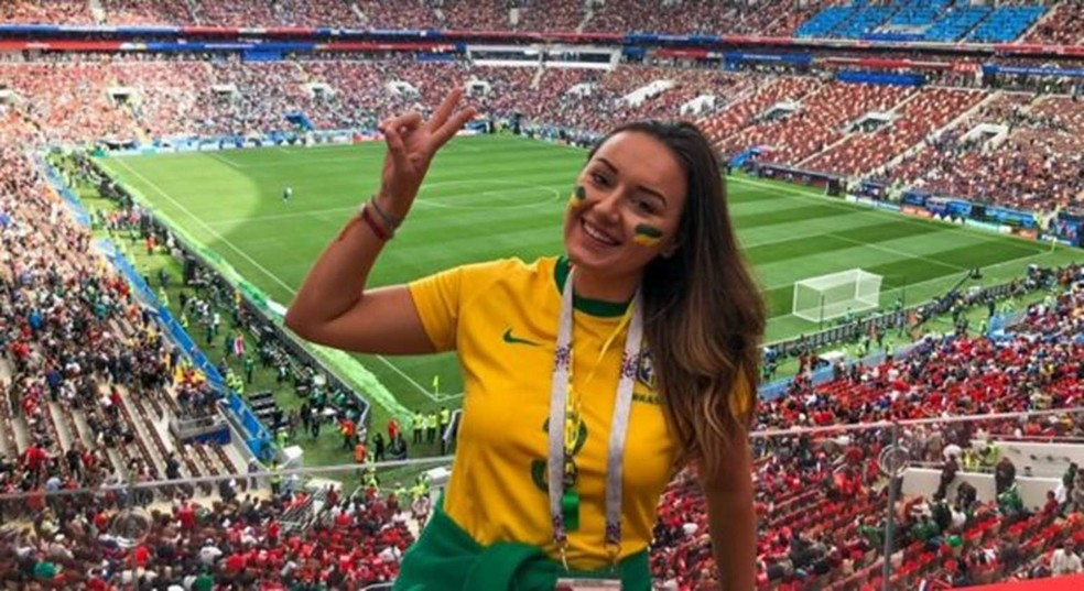 Luiza na Copa da Rússia, em 2018 — Foto: Arquivo Pessoal