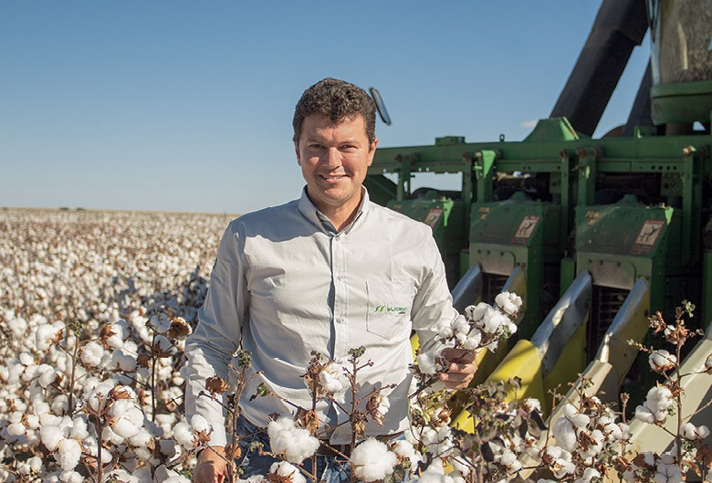 Moisés Schmidt, produtor de algodão de  Barreiras (BA) (Foto: CNA/divulgação)