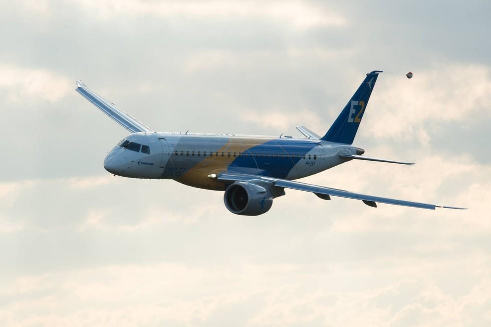 Embraer anunciou nesta quinta-feira (5) o acordo com a gigante norte americana Boeing (Foto: Embraer/Divulgação)