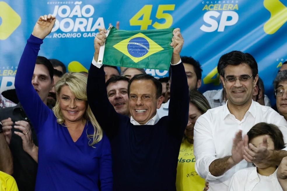 João Doria comemora vitória em São Paulo — Foto: ALOISIO MAURICIO/FOTOARENA/FOTOARENA/ESTADÃO CONTEÚDO