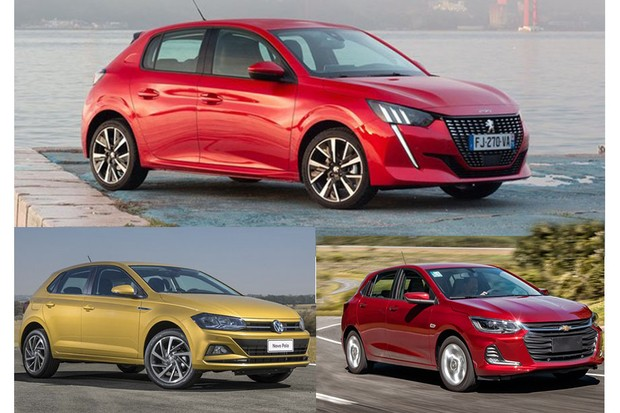 Novo Peugeot 208 chega para enfrentar Onix e Polo (Foto: Montagem sobre divulgação)