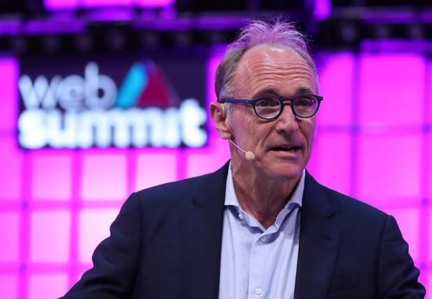 Tim Berners-Lee, inventor da web, em apresentação no Web Summit 2018 (Foto: Pedro Fiúza/NurPhoto via Getty Images)
