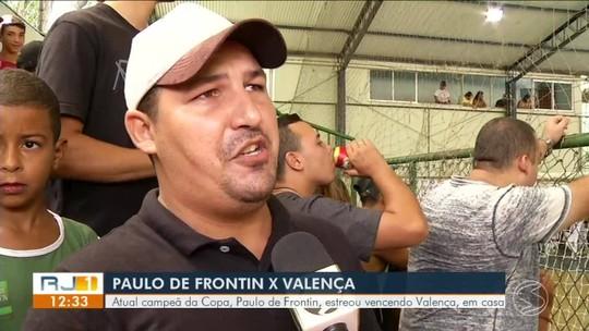 Atual campeã, Paulo de Frontin estreia vencendo Valença em casa por 5 a 2