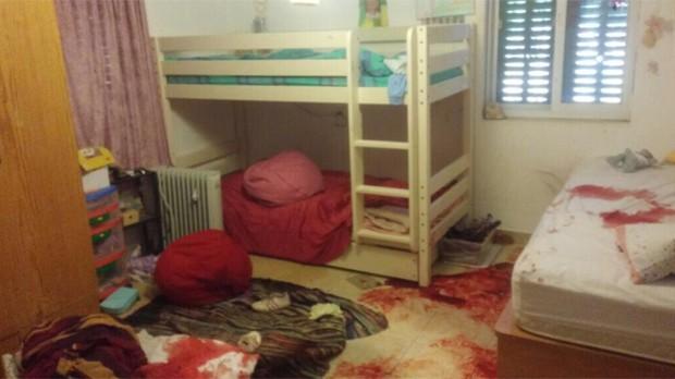 Foto divulgada pelo Exército mostra colchão e o chão cobertos de sangue (Foto: Reprodução/Twitter/IDF)