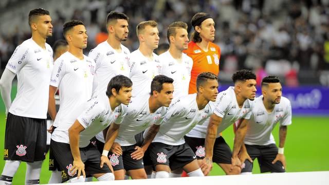 Formação do Corinthians que iniciou o jogo deste sábado