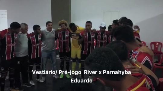 """Antes de goleada, Edu inflama o River-PI: """"Quem quer ser campeão tem que aumentar o nível"""""""