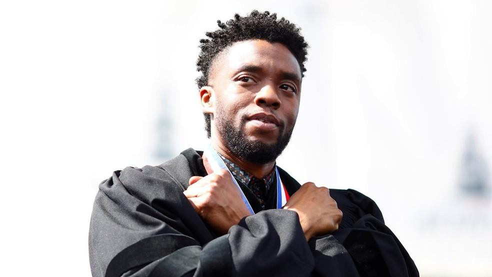Em 2018 a Marvel estreou um longa protagonizado por um negro, 'Pantera Negra'; críticos dizem que falta mais diversidade nas superproduções  — Foto: Getty Images via BBC