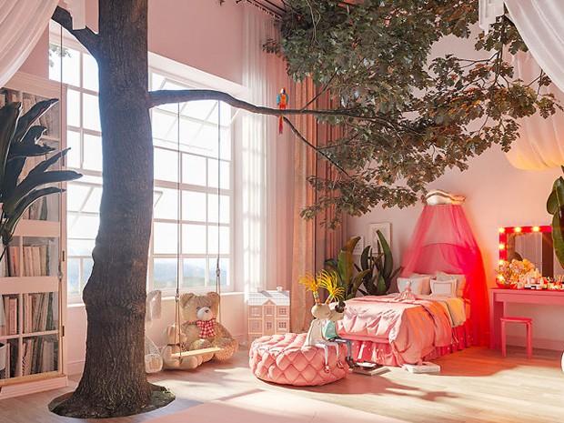 Designers criam quartos baseados em desenhos infantis