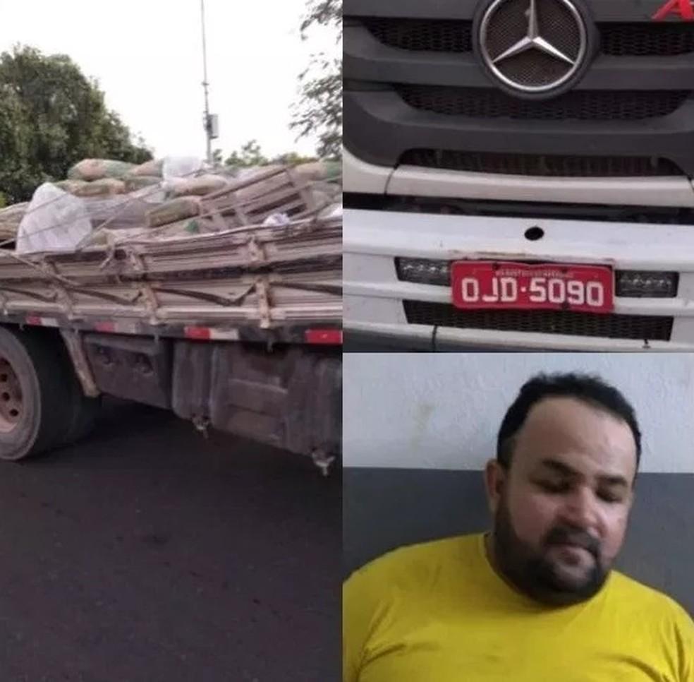 Clemilton Almada Costa foi encaminhado para a Delegacia Regional de Polícia Civil de Caxias junto com o caminhão que foi apreendido — Foto: Divulgação/Polícia
