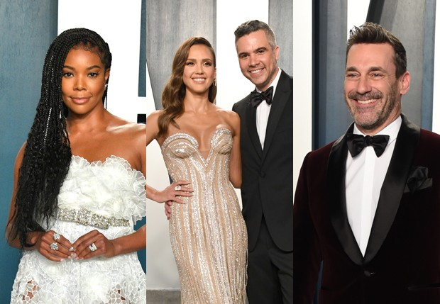 Gabrielle Union, Jessica Alba e Cash Warren, e Jon Hamm (Foto: Getty Images)