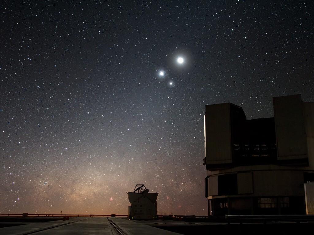 Uno de los telescopios utilizados en Paranal para observar exoplanetas (Foto: Observatorio Europeo Austral)
