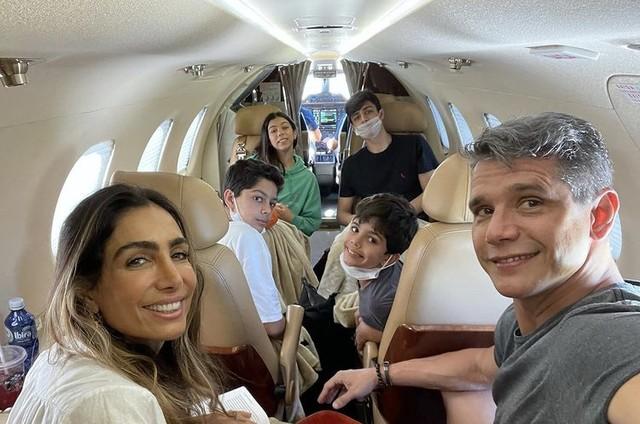 Márcio Garcia e a família (Foto: Reprodução)