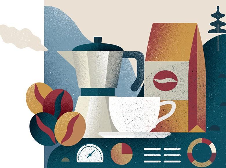 Indústria do café (Foto:  ilustração: Bárbara Malagoli)