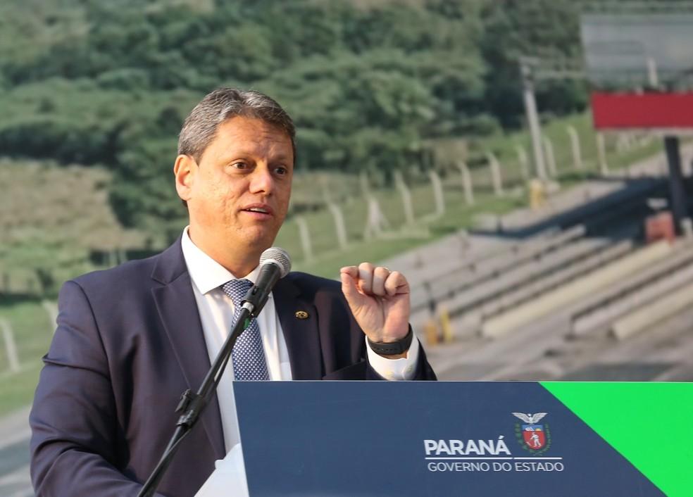 Visita do Ministro da Infraestrutura ao Paraná — Foto: Giuliano Gomes/PR Press