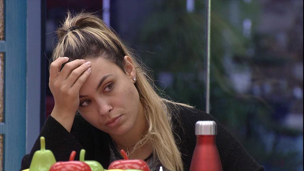 Sarah revela para quem daria o Castigo do Monstro no BBB21: 'Vai depender do Monstro' — Foto: Globo