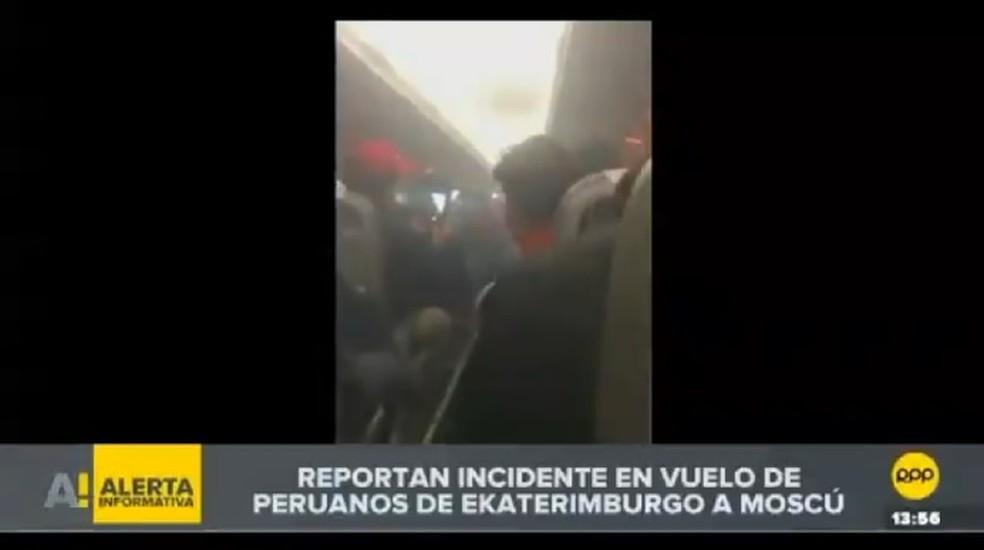 Voo com peruanos tem problemas na turbina (Foto: Reprodução)