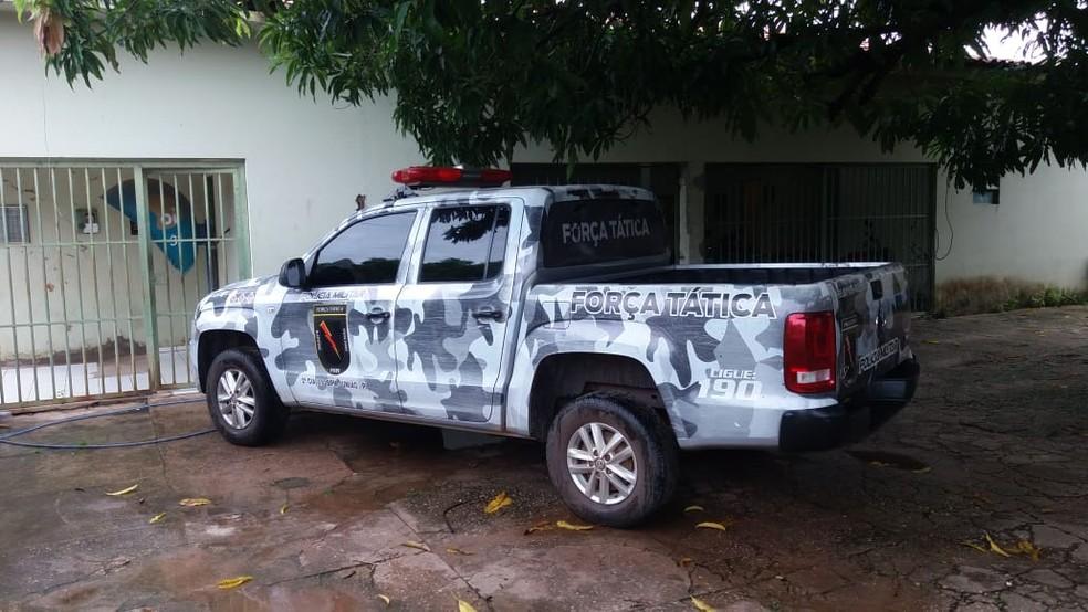 Polícia Militar de União prendeu suspeito de agredir mãe e parentes em União — Foto: Divulgação/PM-PI