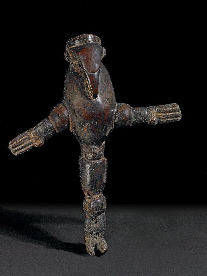 Escultura de homem-pássaro, encontrada em 1792 (Foto: Reprodução British Museum)