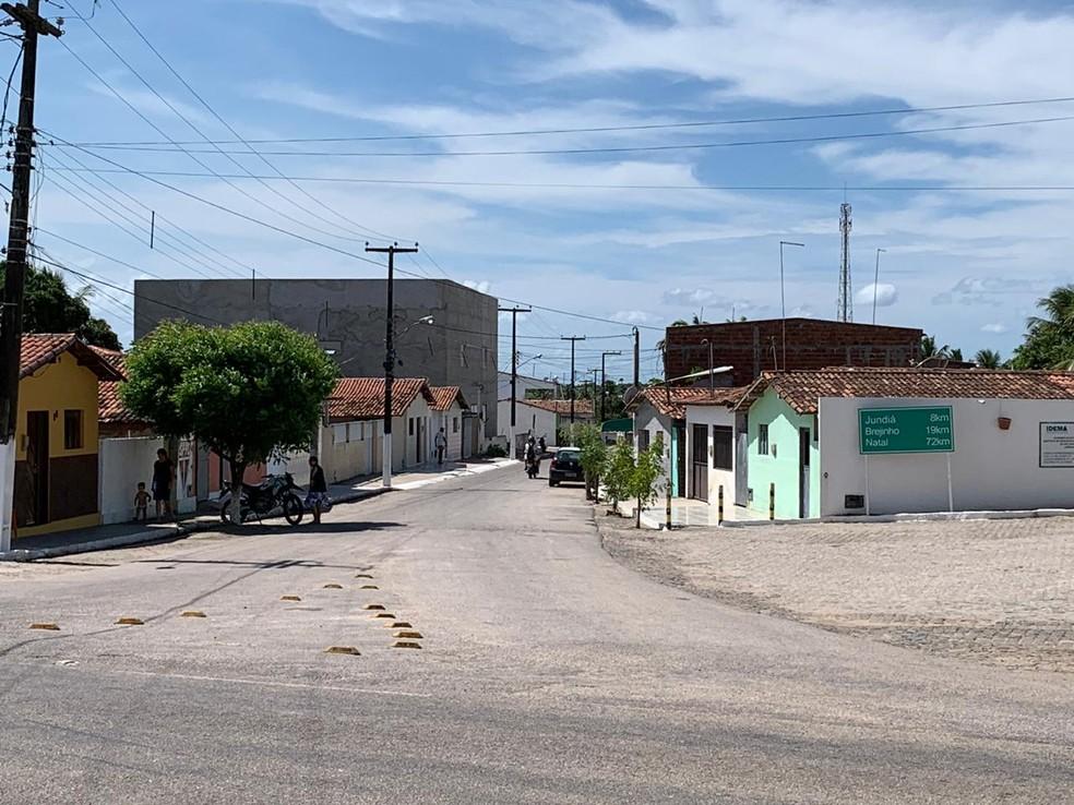 Município de Espírito Santo, no interior do RN, onde houve perseguição policial nesta sexta (14) — Foto: Anna Alyne Cunha/Inter TV Cabugi