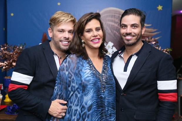 Bruno Chateaubriand, Narcisa Tamborindeguy e Diogo Bocca (Foto: Anderson Borde/Agnews)