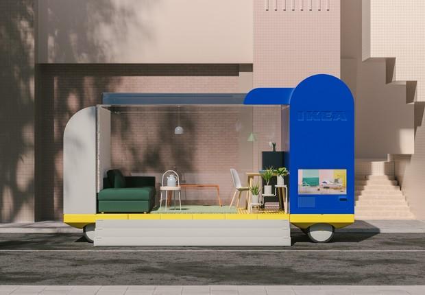 Até mesmo as lojas da Ikea poderão ganhar versões sobre rodas – quem sabe? (Foto: Space 10)