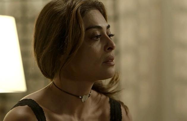 Na quarta (25), Bibi (Juliana Paes) se tornará suspeita de ter incendiado o restaurante de Dantas (Edson Celulari) (Foto: Reprodução)