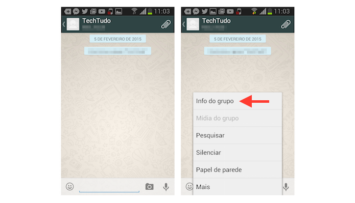 Acessando as informa??es de um grupo no WhatsApp para Android (Foto: Reprodu??o/Marvin Costa)