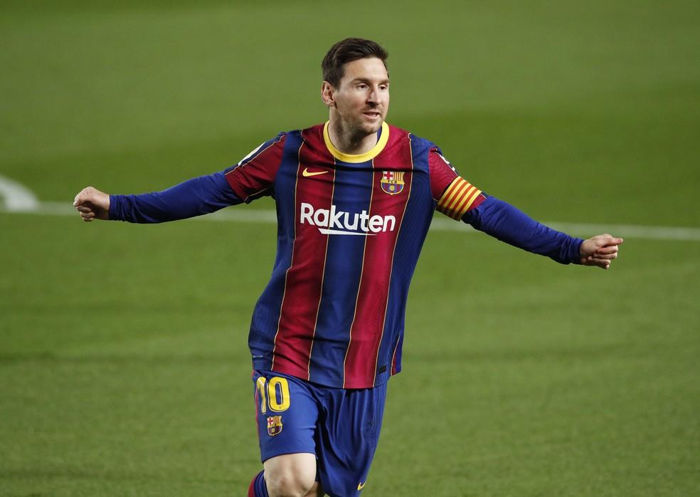 Messi comemora em Barcelona x Getafe — Foto: REUTERS/Albert Gea