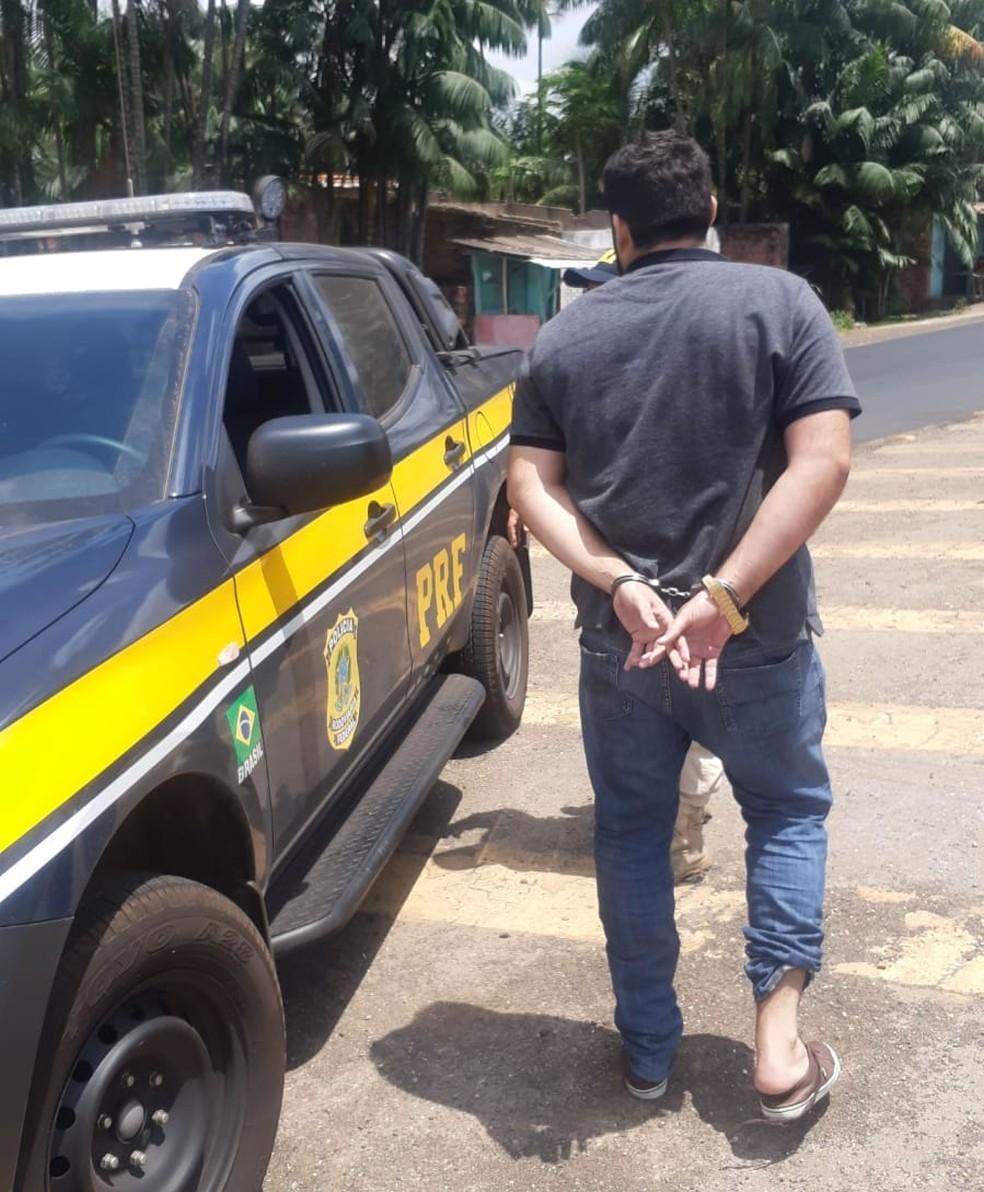 Suspeito de liderar esquema de fraudes milionárias no INSS do Maranhão e Piauí é preso em São Luís (MA) — Foto: Divulgação/Polícia Rodoviária Federal do Maranhão (PRF-MA)