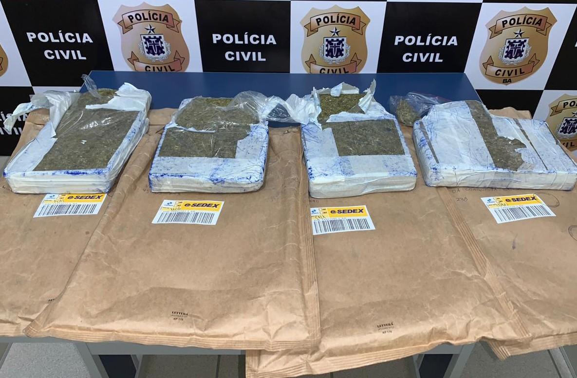 Homem é preso no sudoeste da Bahia suspeito de integrar esquema de tráfico de drogas através do Sedex