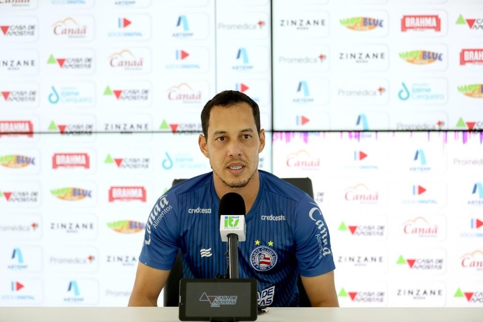 Rodriguinho espera fazer de 2021 a melhor temporada da carreira — Foto: Felipe Oliveira/ Divulgação/ EC Bahia
