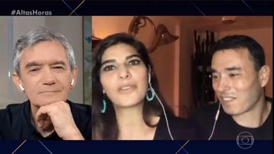 Andréia Sadi e André Rizek falam da rotina juntos na quarentena, e ele se declara: 'Não sei o que seria se não fosse a sua companhia'