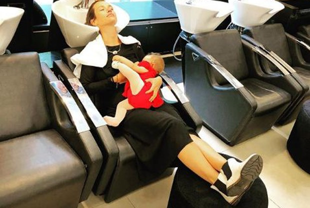 Juliana Didone com a sua pequena Liz (Foto: Reprodução/Instagram)