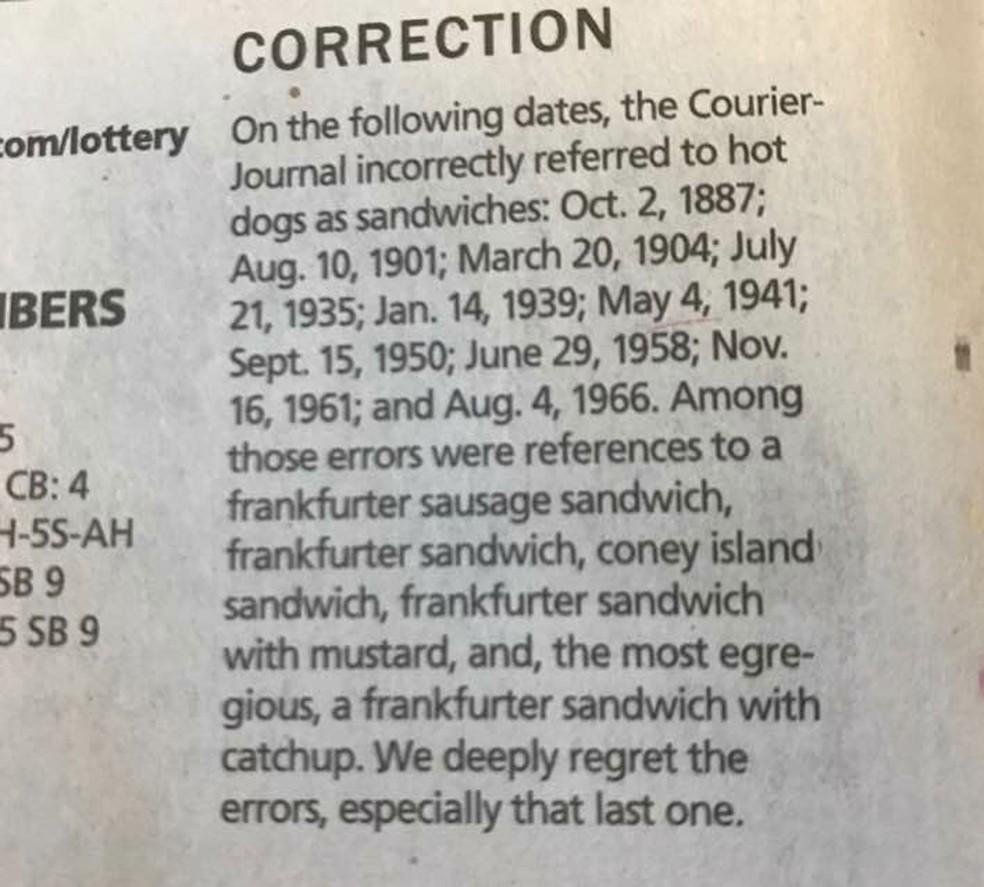 Jornal americano cria polêmica online ao dizer que cachorro-quente não é sanduíche (Foto: @j_christo/Twitter)