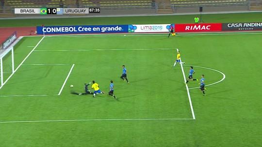 Veja os gols de Brasil 1 x 1 Uruguai pelo Sul-Americano Sub-17
