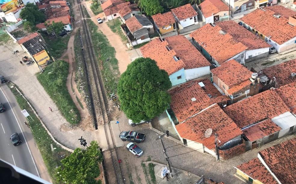 PM resgata vítima de cárcere privado na Zona Norte de Natal (Foto: Sesed/Divulgação)