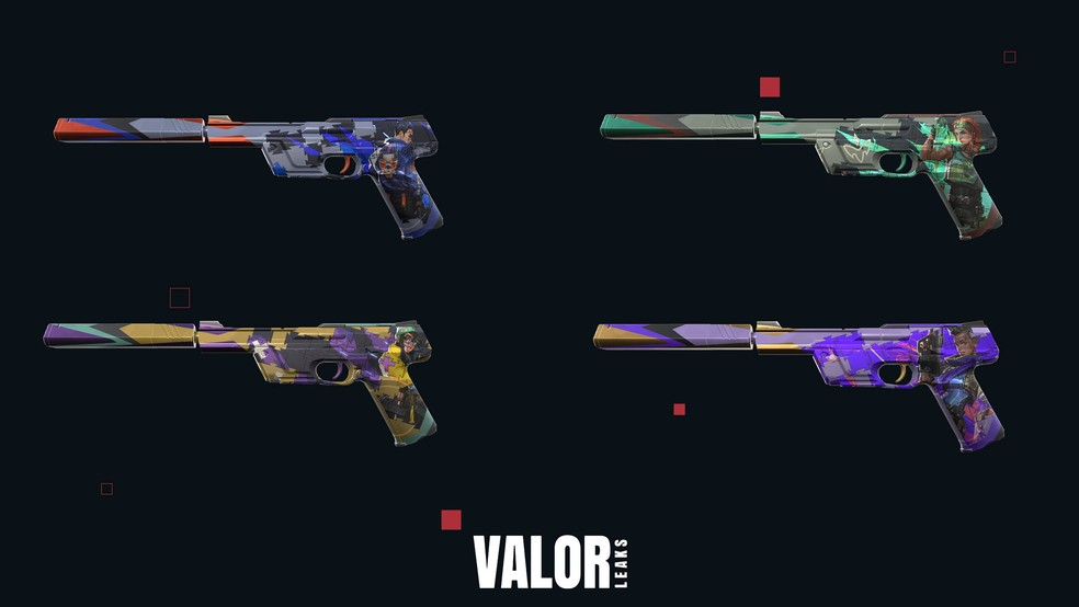 Linha Quebra-cabeça da arma Ghost — Foto: Reprodução/Valorleaks