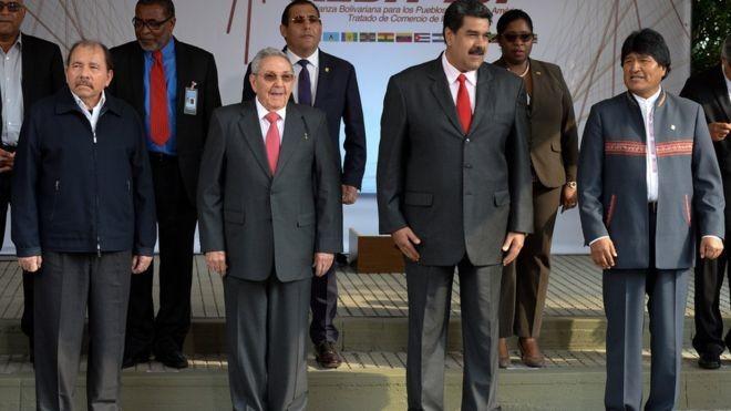 Líderes da Venezuela e da Bolívia apoiaram Ortega. E no Brasil, o PT divulgou nota dizendo que o governo é legítimo (Foto: GETTY IMAGES via BBC)