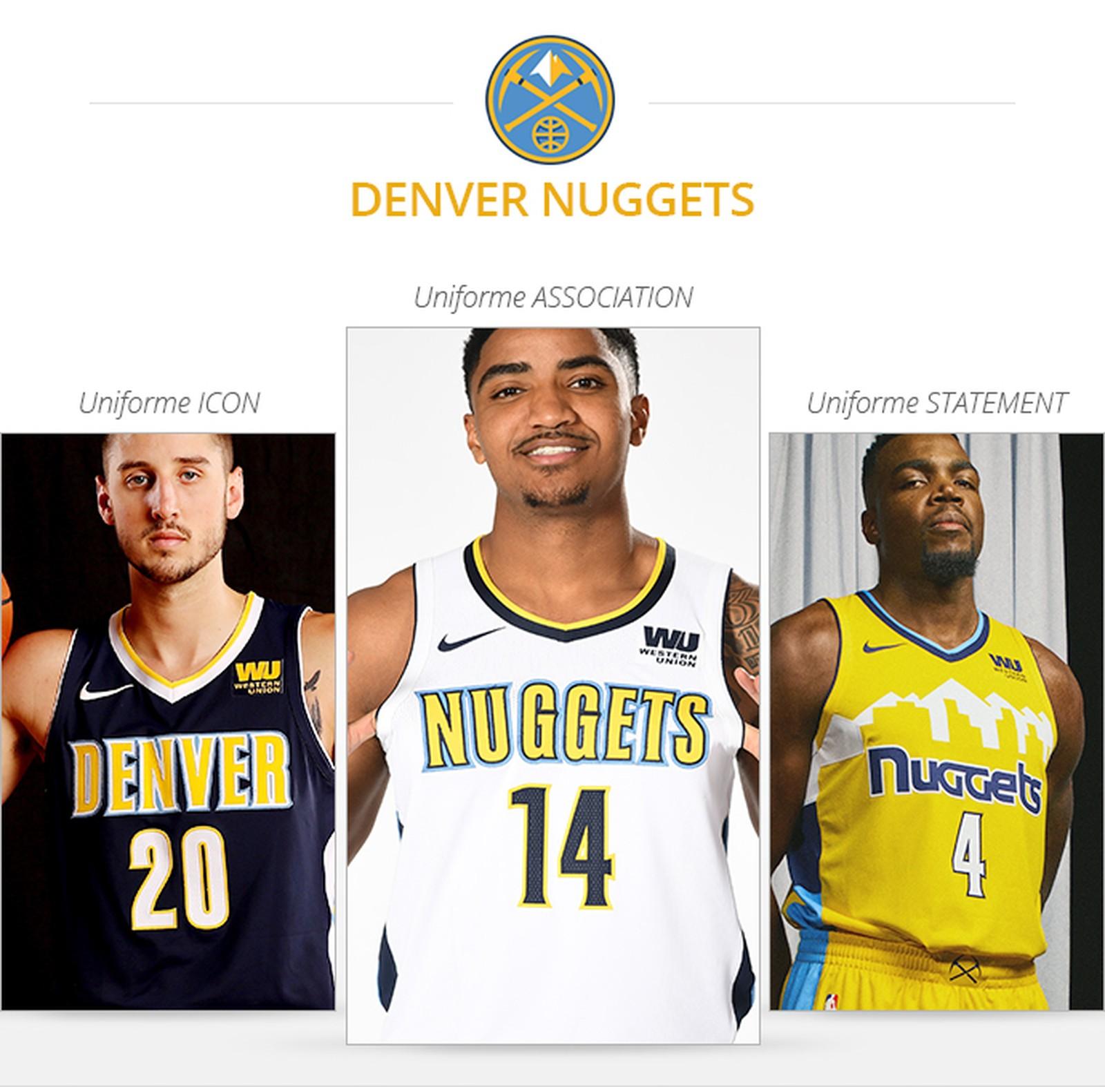 Uniformes Denver Nuggets saison 2017/18