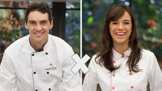 Semifinal do 'Super Chef': Giba e Miá Mello estão na Panela de Pressão
