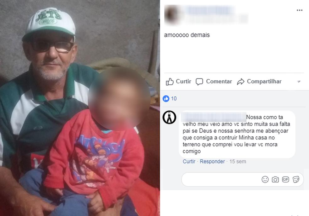 Segundo amigo da família, pai da vítima não resistiu a um derrame (Foto: Reprodução/Facebook)